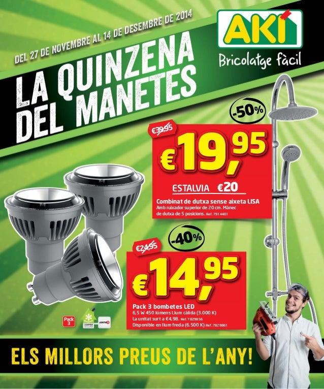 €39,95  ESTALVIA €20  Combinat de dutxa sense aixeta LISA  Amb ruixador superior de 20 cm. Mànec  de dutxa de 5 posicions....