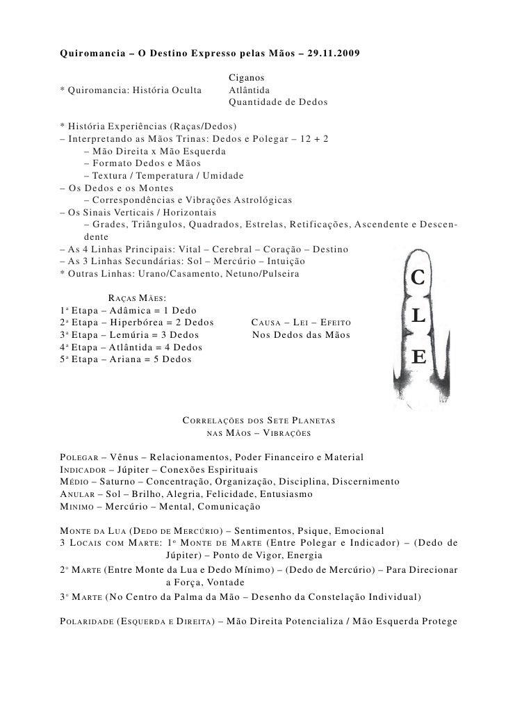 Quiromancia – O Destino Expresso pelas Mãos – 29.11.2009                                                Ciganos * Quiroman...