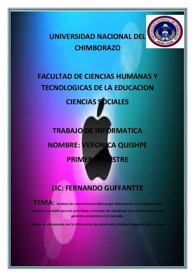 UNIVERSIDAD NACIONAL DEL CHIMBORAZO  FACULTAD DE CIENCIAS HUMANAS Y TECNOLOGICAS DE LA EDUCACION CIENCIAS SOCIALES  TRABAJ...
