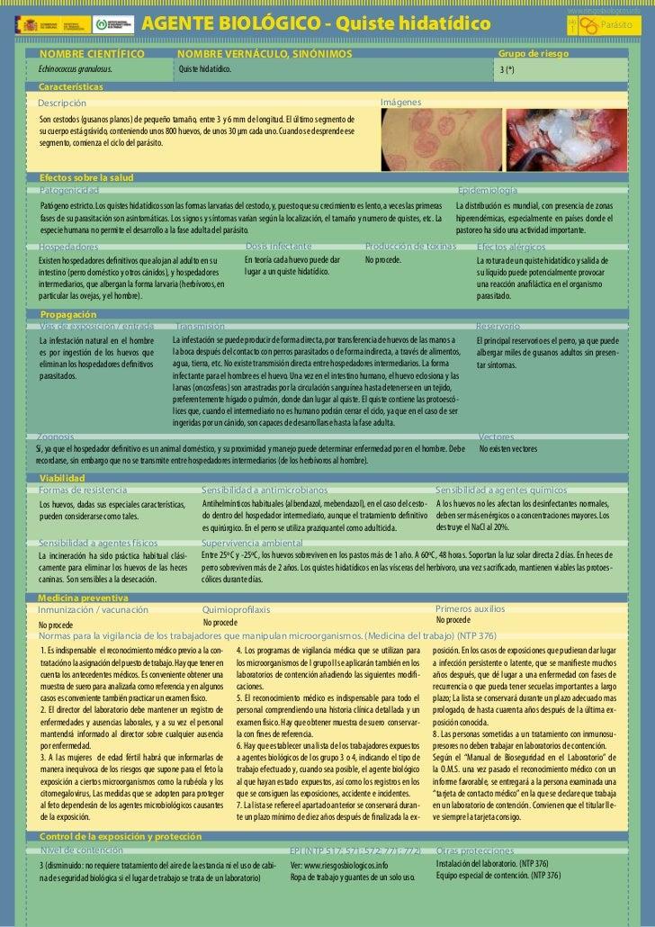 www.riesgosbiologicos.info                                    AGENTE BIOLÓGICO - Quiste hidatídico                        ...