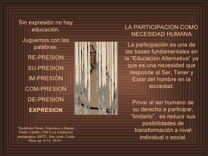 Sin expresión no hay educación. Juguemos con las palabras: RE-PRESION SU-PRESION IM-PRESIÓN COM-PRESION DE-PRESION EXPRESI...