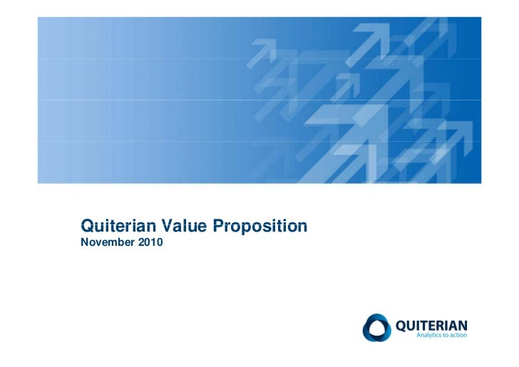 Quiterian Value PropositionNovember 2010