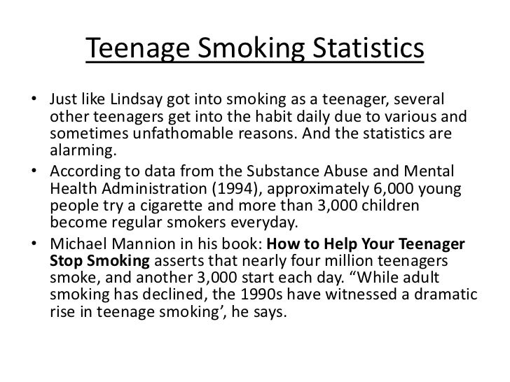 what are the reasons of the teenagers in smoking essay Smoking has become very common and fashionable, especially among young boys this habit usually begins at school when boys try to experiment with every new thing that.