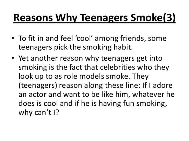 Essay smoking habit among students