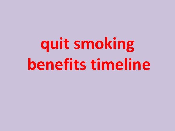 <ul><li>quit smoking benefits timeline   </li></ul>