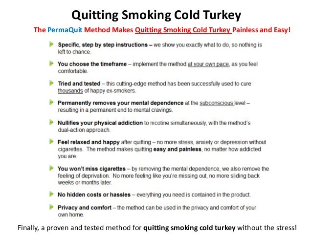 Ways To Stop Smoking Cold Turkey