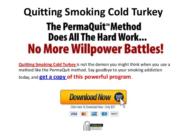 Quitting Smoking Cold Turkey - Tobacco Free College