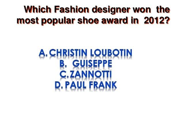 A Fashion Quiz