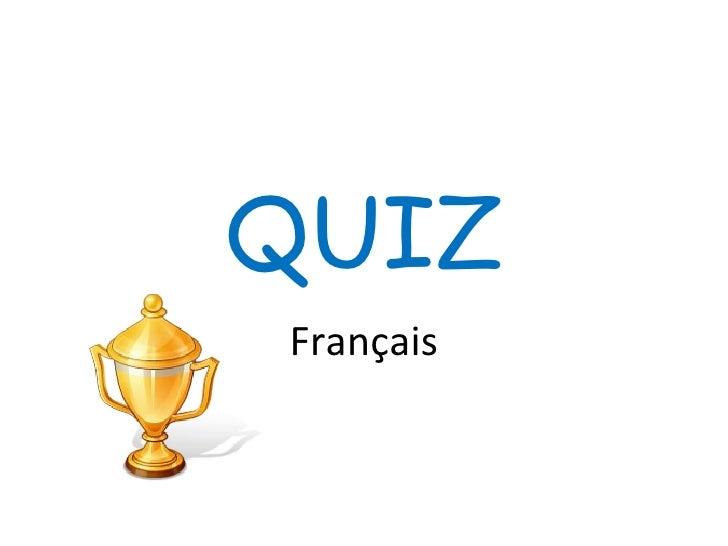 QUIZ Français