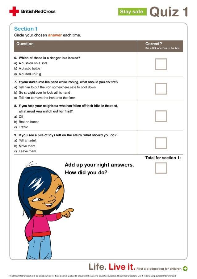 Quiz 1 first aid