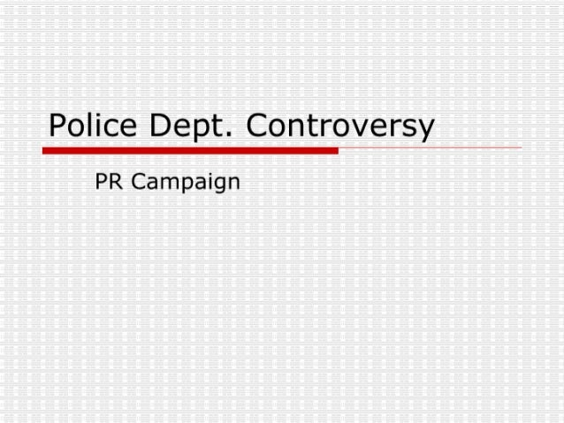 Police Dept. Controversy