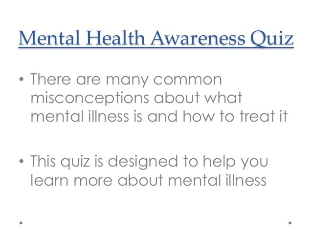 Nami Florida Mental Health Awareness Quiz