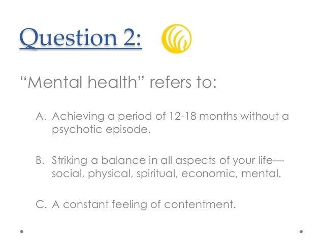 Mental Health Quiz Mental Health Tips