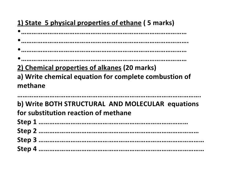 quiz 2 alkane and alkene with answers rh slideshare net Modern Chemistry Study Guide Modern Chemistry Study Guide