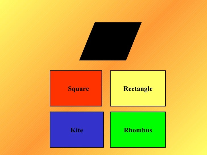 Square   RectangleKite     Rhombus
