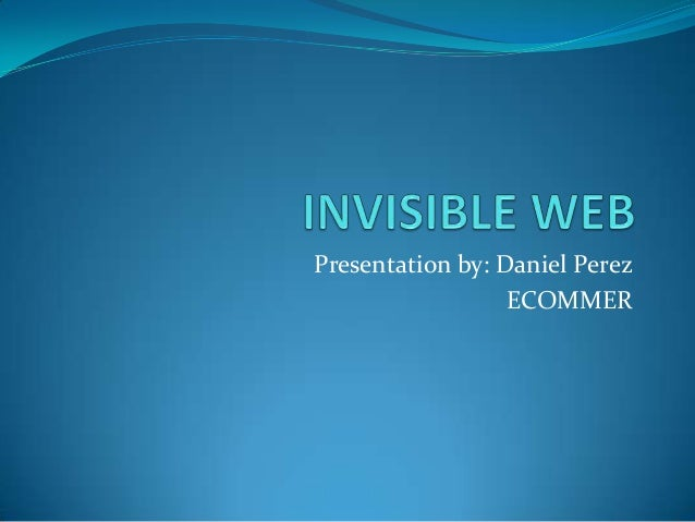 Presentation by: Daniel Perez ECOMMER