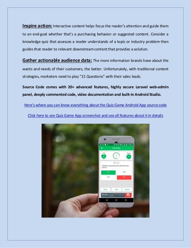 Quiz Game Android App Details