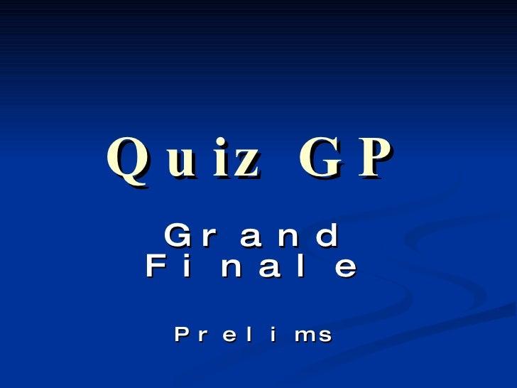 Quiz GP Grand Finale Prelims