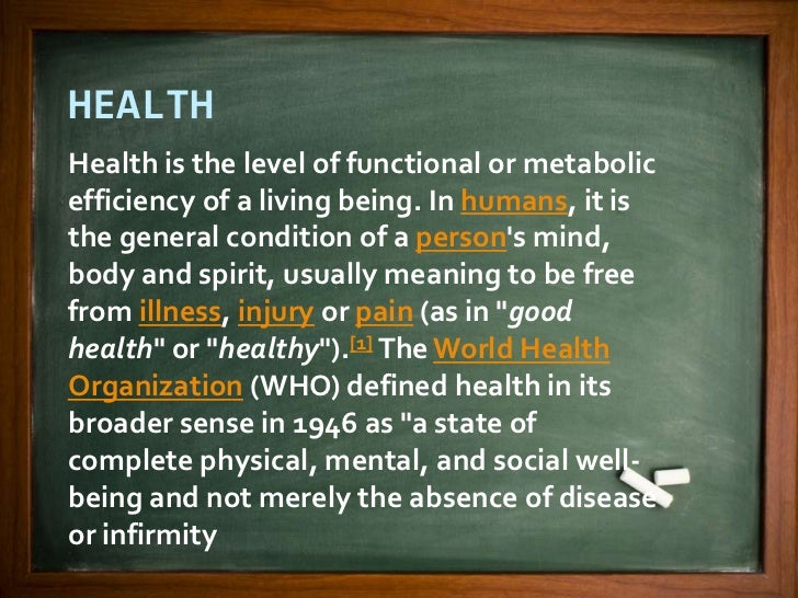the meanings of health and its