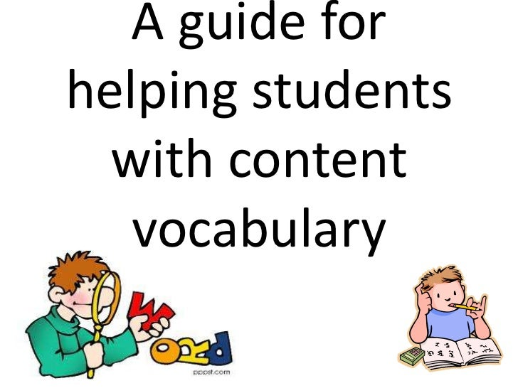 A guide forhelping students  with content   vocabulary