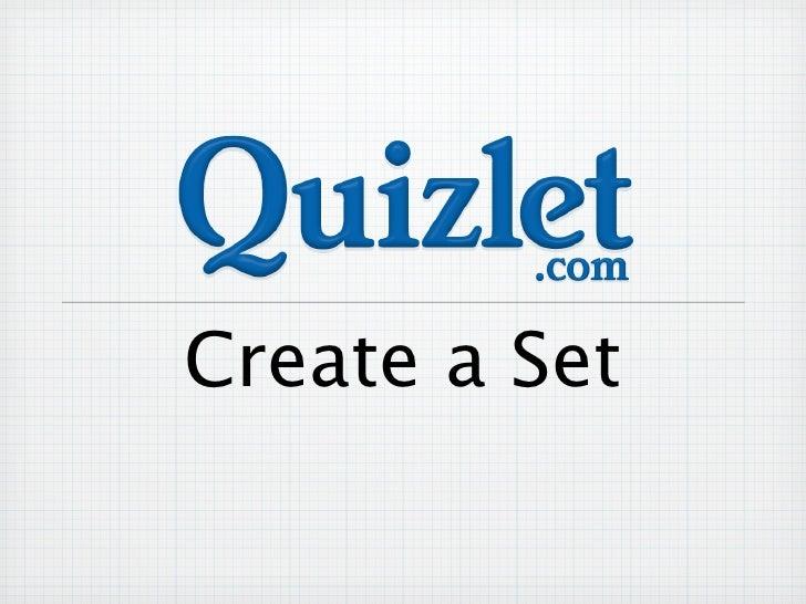 Quizlet create set