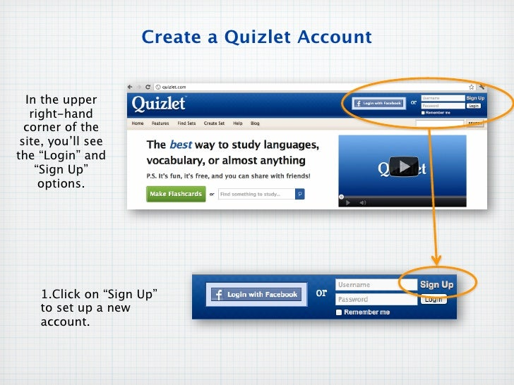 Quizlet sign up
