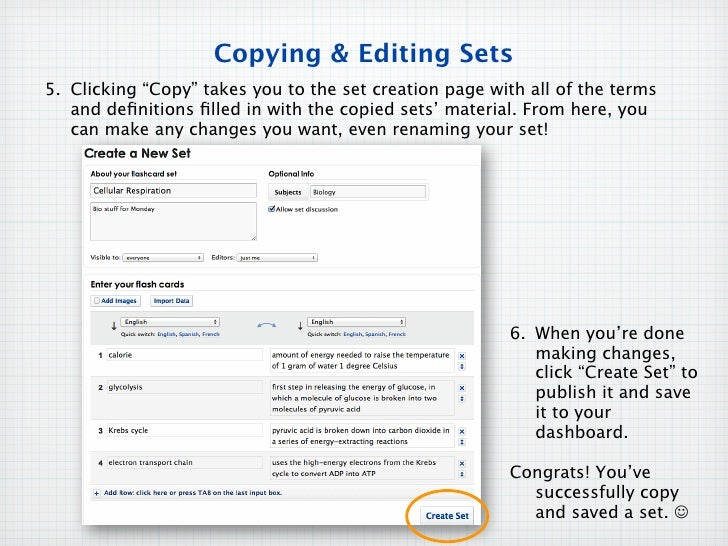 Quizlet find:copy