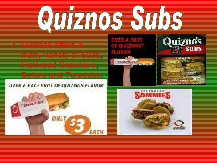 quiznos marketing strategy