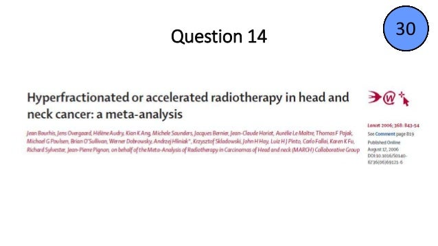 Quiz on clinical trials of head &