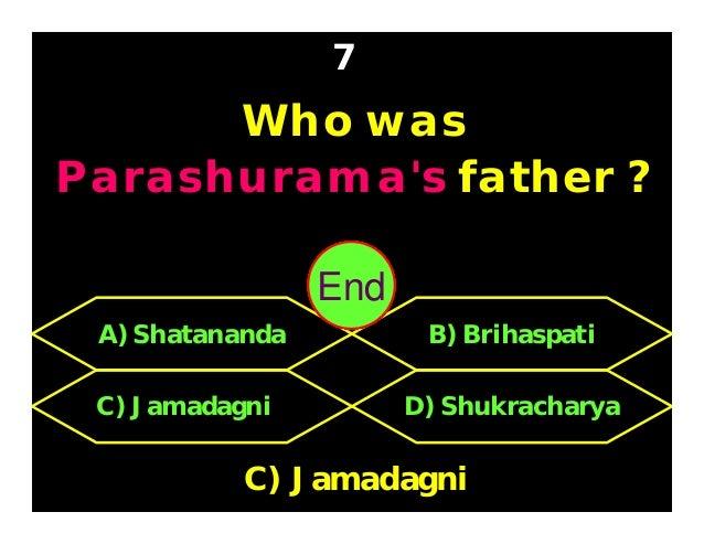 Who were Pradyumna's parents ? 8 C) Radha & Krishna D) Bhadra & Krishna A) Mitravinda & Krishna B) Rukmini & Krishna B) Ru...