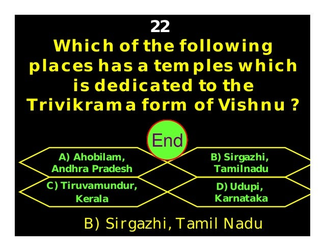 Vishnu has 4 arms, and holds 4 objects. Name those objects ? 24 C) Conch, lotus, mace, Lakshmi D) Conch, discus, lotus And...