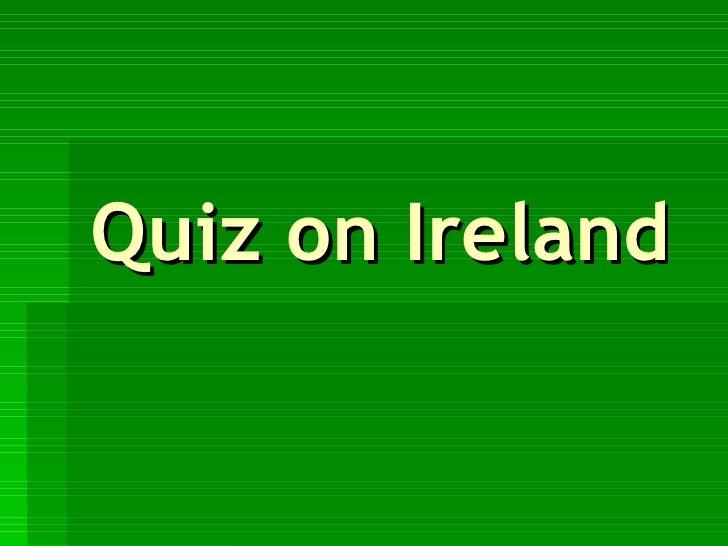 Quiz on Ireland