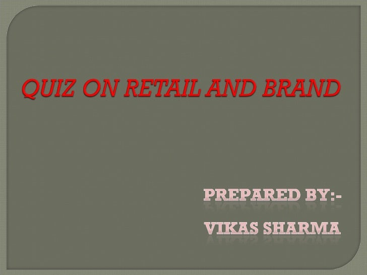 Quiz On Retail And Brand Slide 1