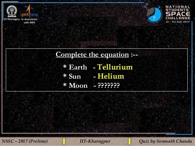 Space Quiz Prelims