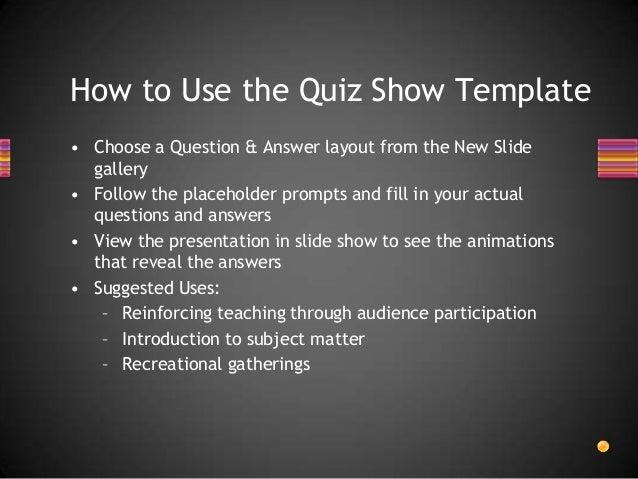 Quiz Show Cenvat