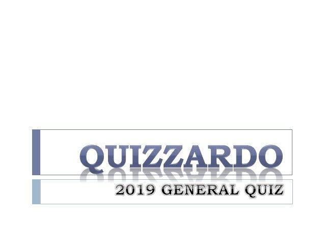 Quizzardo - General quiz - 2019