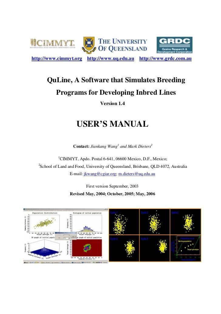 http://www.cimmyt.org             http://www.uq.edu.au           http://www.grdc.com.au         QuLine, A Software that Si...