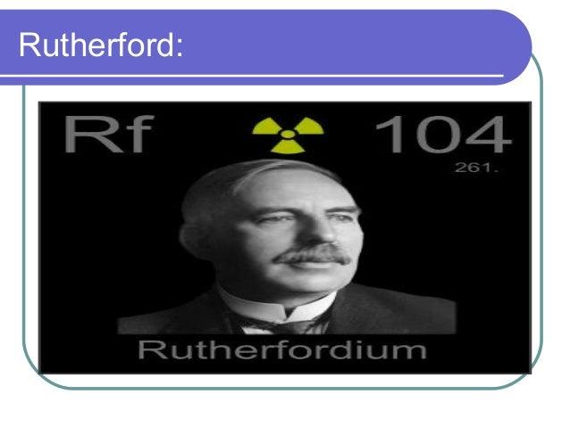 rutherford 20 cont es un elemento qumico de la tabla peridica - Tabla Periodica De Los Elementos Quimicos Ppt