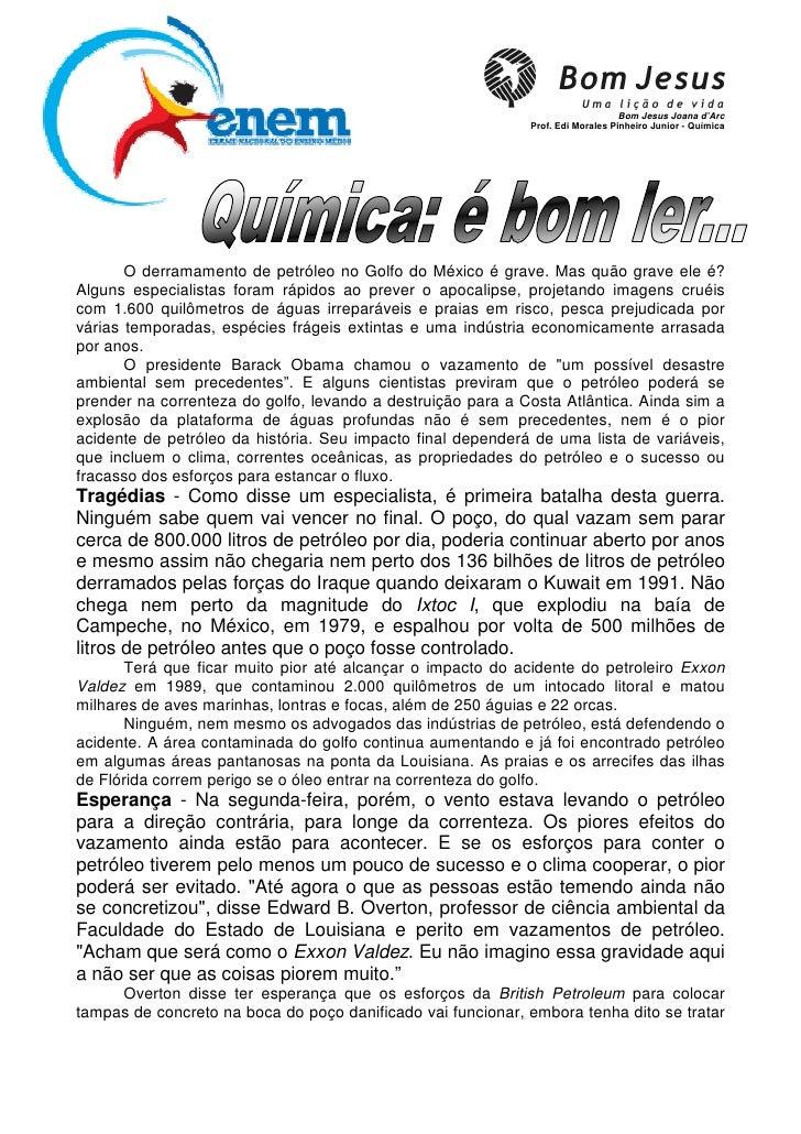 Bom Jesus Joana d'Arc                                                              Prof. Edi Morales Pinheiro Junior - Quí...