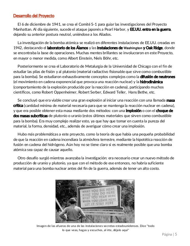 Resumen de la película proyecto manhattan