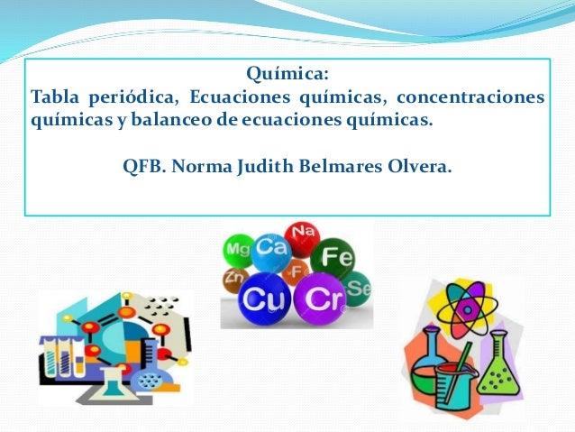Qumica bsica qumica tabla peridica ecuaciones qumicas concentraciones qumicas y balanceo de ecuaciones qumicas urtaz Image collections