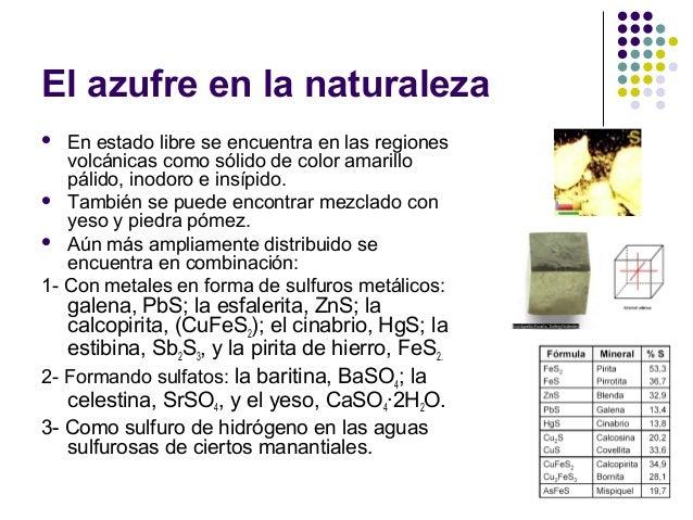 Qu mica descriptiva del azufre for De donde se obtiene el marmol