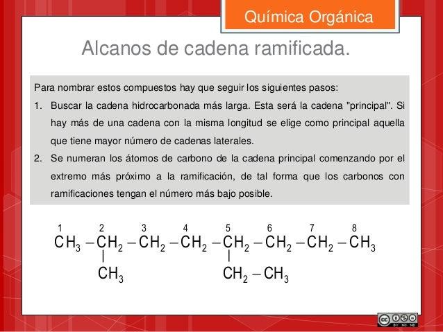 Para nombrar estos compuestos hay que seguir los siguientes pasos: 1. Buscar la cadena hidrocarbonada más larga. Esta será...