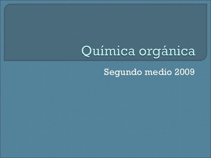Segundo medio 2009