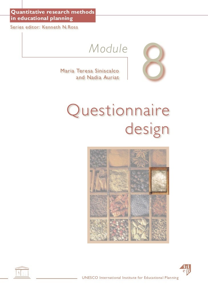 Quantitative research methodsin educational planningSeries editor: Kenneth N.Ross                                         ...