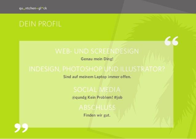 quäntchen + glück sucht Designer Slide 3