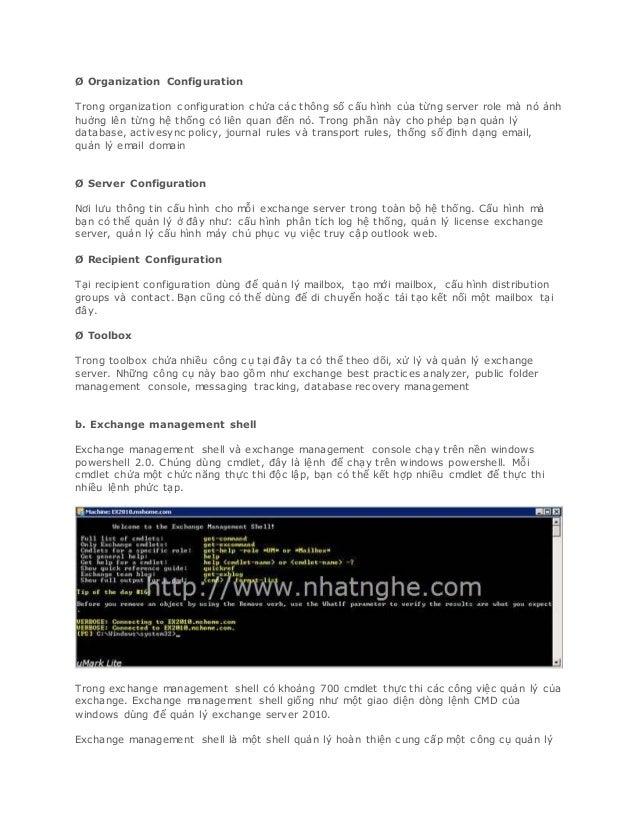Quản trị exchange server 2010 phan 4 Slide 3