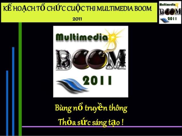 Quản trị học kế hoạch tổ chức cuộc thi multimedia boom