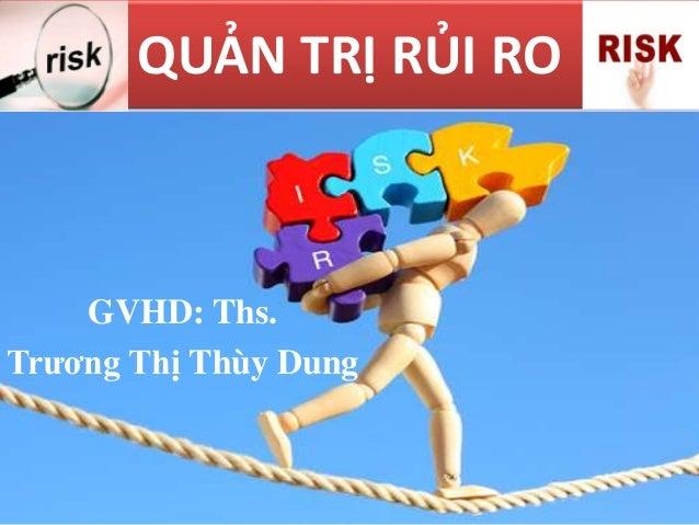 QUẢN TRỊ RỦI RO GVHD: Ths. Trương Thị Thùy Dung
