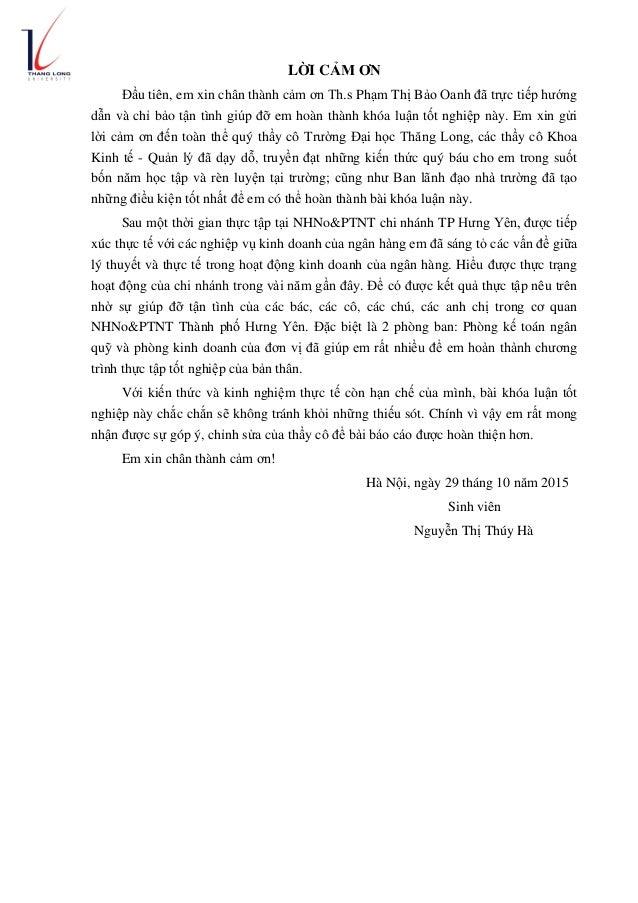 LỜI CẢM ƠN Đầu tiên, em xin chân thành cảm ơn Th.s Phạm Thị Bảo Oanh đã trực tiếp hướng dẫn và chỉ bảo tận tình giúp đỡ em...